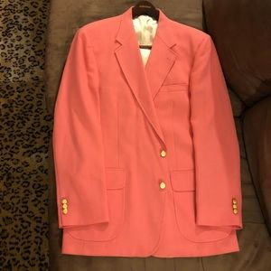 Stafford Pink Sport Coat Blazer 44L Long